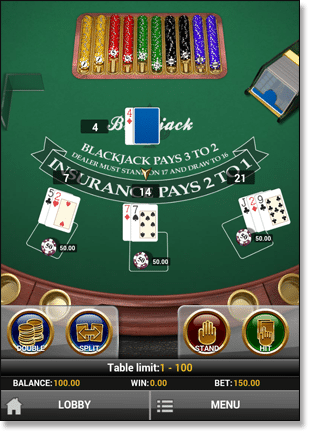 Blackjack Multi-Hand App